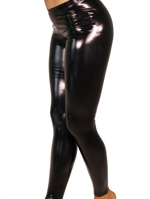 STICKY HEROINE LIQUID leggings vinyl NEGRO- Cleo the Hurricane