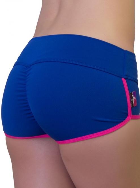 Shorts Retro Azul/Rosa Talla M- BAD KITTY